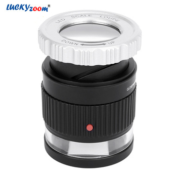 30X Cylindrical Scale Magnifying Glass Optical Glass Len Magnifier Adjustable Focal Jewelry Loupe Printing Cloth Magnifier Lupe цена 2017