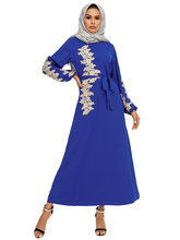 new Muslim robe elegant and dignified embroidery long swing dress