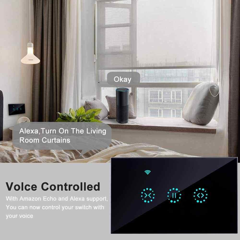 Wi-fi Intelligente Tenda Interruttore lavora con Alexa/Google di Telecomando di Casa Adatto per Porte Da Garage di Laminazione Elettrica Persiane