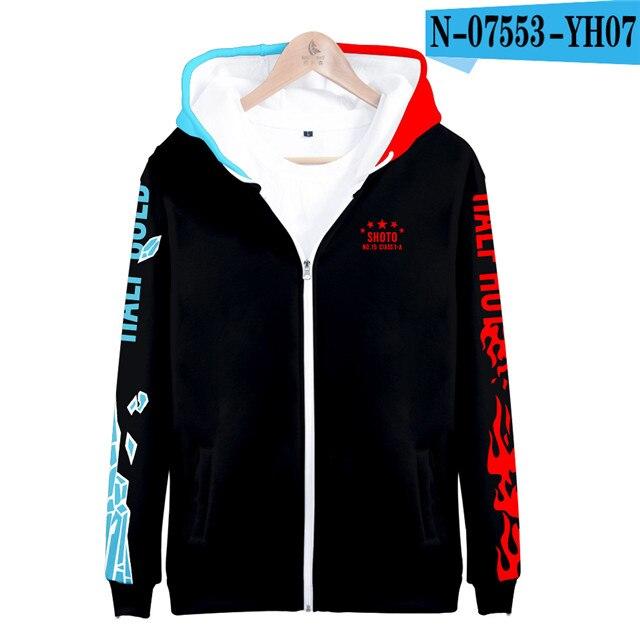 My hero academia hoodies izuku midoriya shouto todoroki boku no hero academia Cosplay Costume Sweatshirt boys girl Zipper Jacket 19