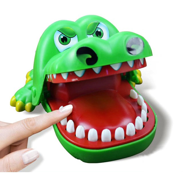 Crocodile Mouth Dentist Bite Finger Game Funny Toy Gift ,Funny Gags Toy For Kids Gift Crocodile Pulling Teeth Bar Games Toys