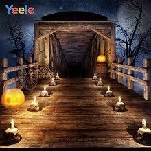 Yeele Halloween Backdrop Pumpkin Lantern Candle Passageway Baby Kids Customized Vinyl Photography Background For Photo Studio цена