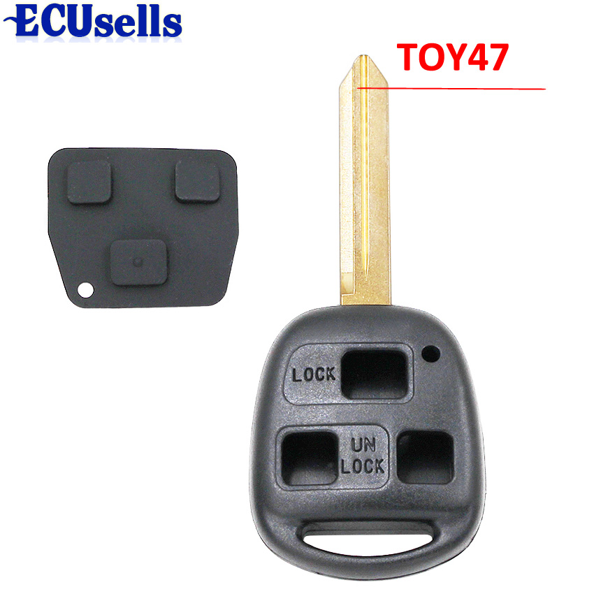 3 Button Remote Key Fob Shell Case Fob Replacement Fit For TOYOTA Yaris Avensis