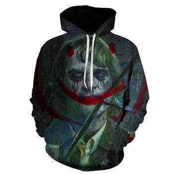 joker costume 2019 Sweatshirts Men Brand Hoodies Men 3D Printing Hoodie Male Casual Tracksuits Size S-6XL Wholesale and retail 6