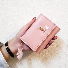Cute wallets Small Famale Purse PU Leather Women Wa