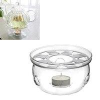 Portable Teapot Holder Base Coffee Water Tea Warmer Candle Holder Clear Glass Heat Resisting Teapot Warmer Insulation Base|Teapot Trivets|Home & Garden -