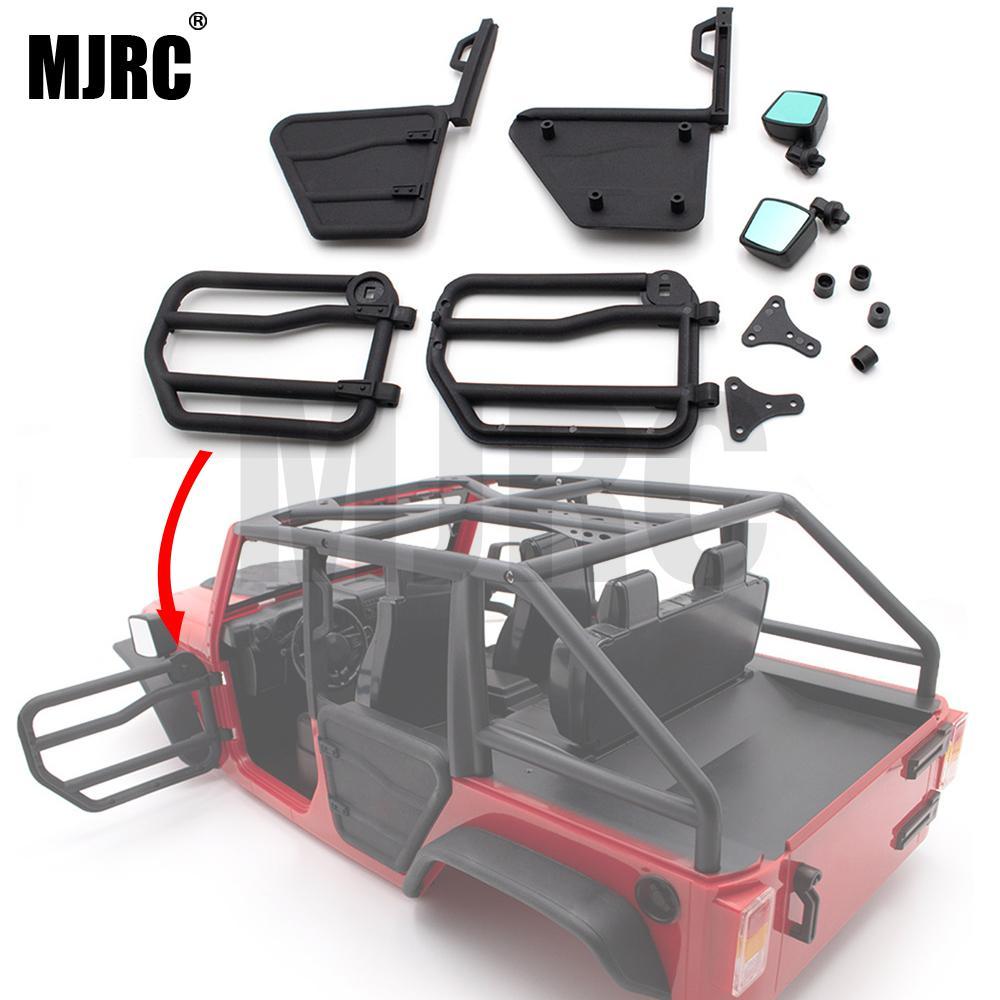 DIY Front & Rear Half Door Tube Rail Door for 1/10 Axial SCX10 II Jeep Wrangler Body RC Car Parts Accessories