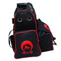 Professional Horse Riding Boots Carry Bag Oxford Equestrian Equipment Backpack with Helmet Compartment