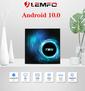 LEMFO T95 Smart TV Box Android 10.0 4GB 32GB 64GB Quad Core 1080P H.265 6K YouTube Media player 2GB 16GB Set top box