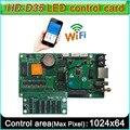 Контроллер светодиодного знака  полноцветный  поддержка WIFI  сеть RJ45  u-диск  контроллер видеоэкрана