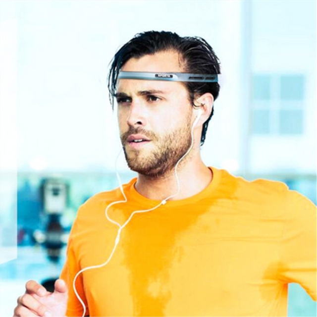 silicone guiding sweat head band sweatband elastic headbands Outdoor Sports Headwear Sweatband Belt Silicone Guiding Sweat Head 1