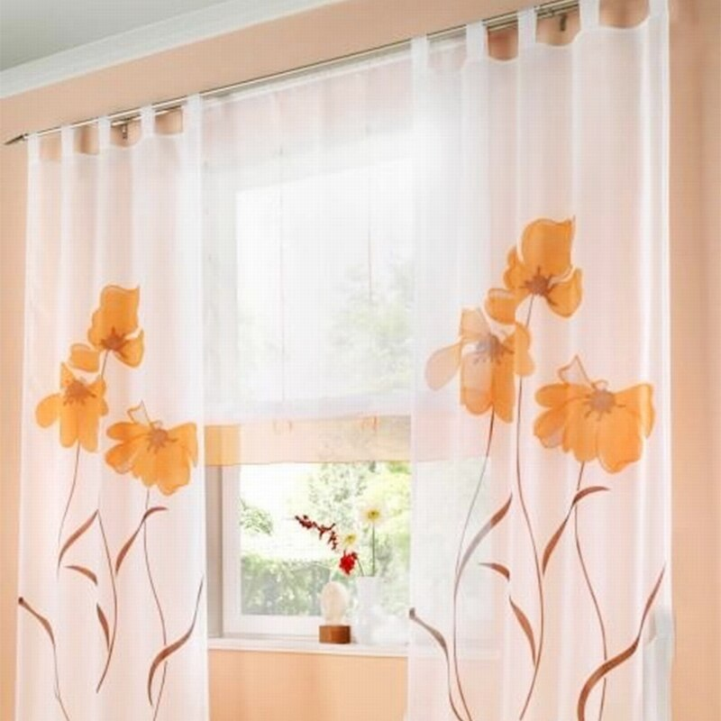 Window Curtains Printed Flower Treatments Provence Living Room Bedroom Kitchen Balcony Curtains Tulle Curtain Decoration 27