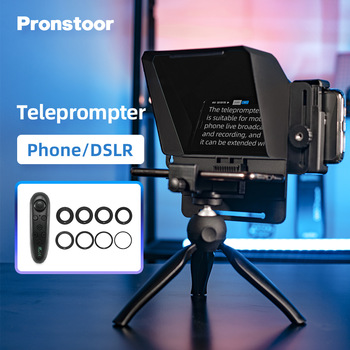 Pronstoor Phone and DSLR Recording Mini Teleprompter Portable Inscriber Mobile Teleprompter Artifact Video With Remote Control