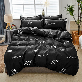 Solstice Bedding Set Black Love 8
