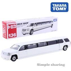 Takara tomica tomica longo no.136 cadillac escalade super-estiramento limousine 1/79 diecast carro collectibles brinquedos do bebê para crianças