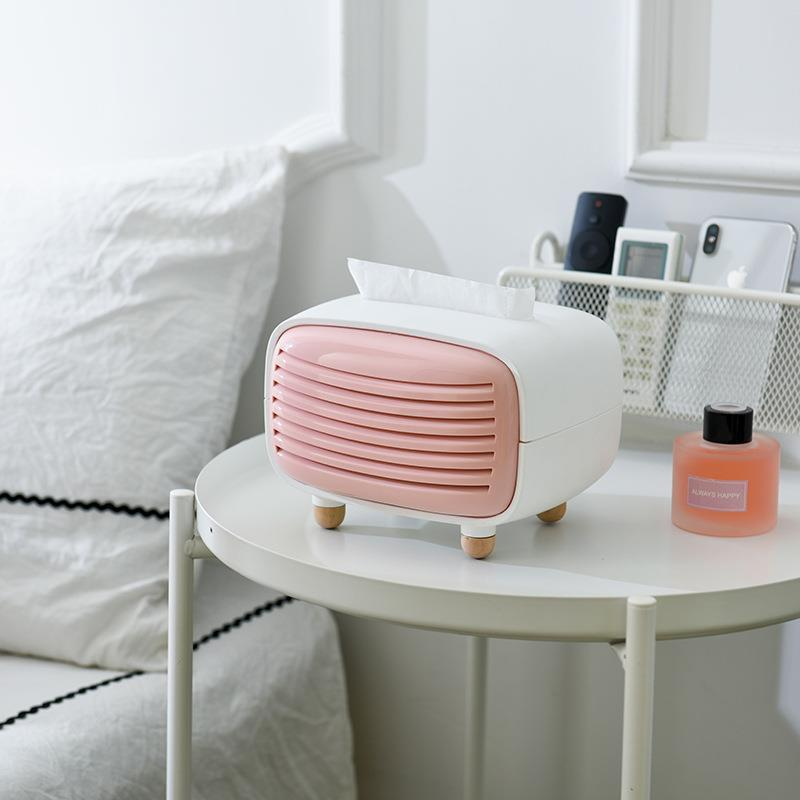 Tissue box Nordic pumping box bamboo charcoal bag living room home creative coffee table deodorant storage box imitation radio