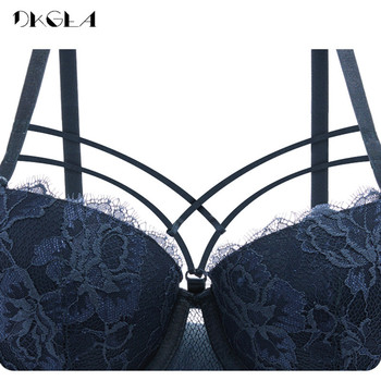 New Top Sexy Underwear Set Green Bras Cotton Brassiere Women Lingerie Set Lace Embroidery Push up Bra Panties Sets Deep V Gather 6