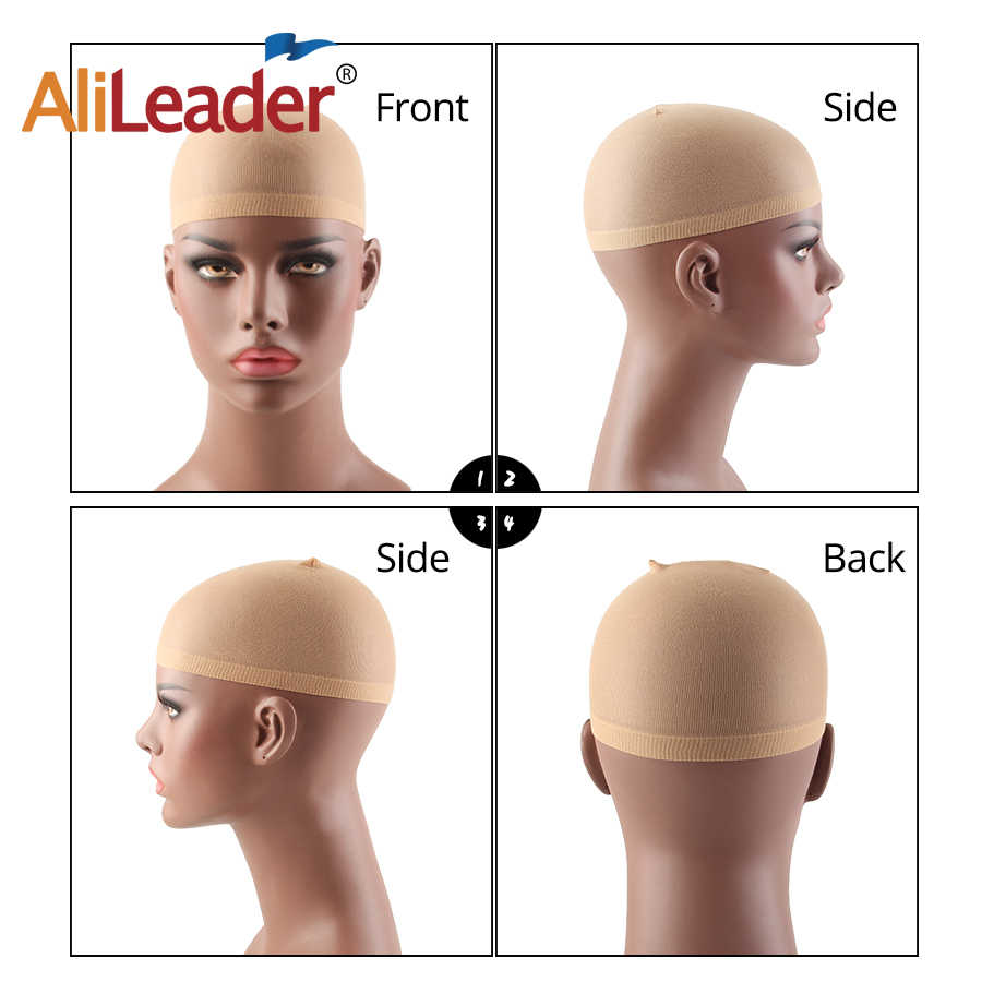 Alileader 12Pcs/Pack Deluxe Hair Wig Caps Stocking For Making Wigs Free Size Unisex Elastic Nylon Mesh Wig Cap Wig Accessories