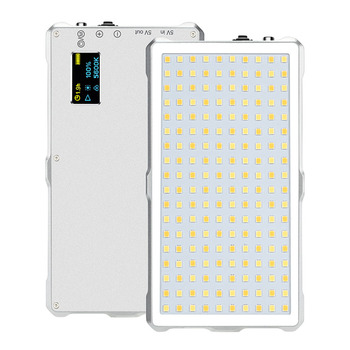 Mini Pocket LED Light Video Recording Commercial Photography F18 Portable LED Video Light Lamp Power Display Mount Adapter