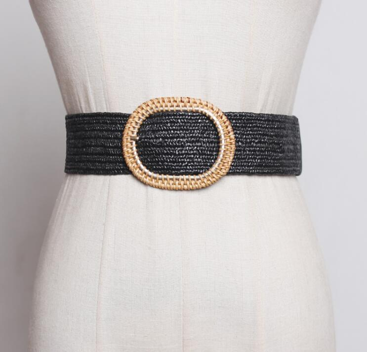 Women's Runway Fashion Knitted Cummerbunds Female Dress Coat Corsets Waistband Belts Decoration Wide Belt R1799