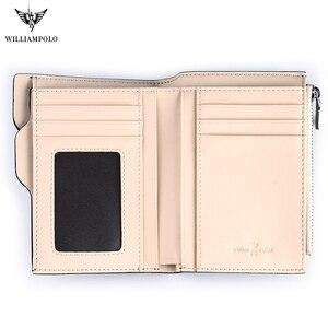 Image 5 - WILLIAMPOLO Small wallet Men Denim purse credit card Holder  coin purse  Leisure Driver License Zipper wallet 2019 fashion