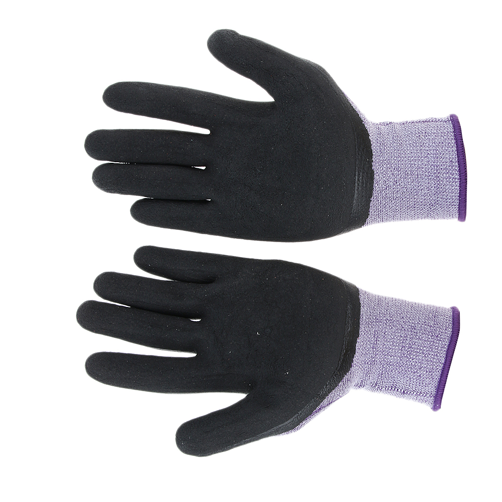 Nylon Latex Anti-Slip Elastic Safety Work Protective Gloves, Excellent Grip, Anti-Slip, Breathable, Comfortable