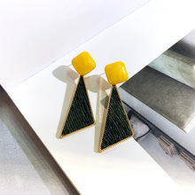 korean statement  acrylic drop earrings for women 2019 fashion jewelry vintage geometric gold asymmetrical earring