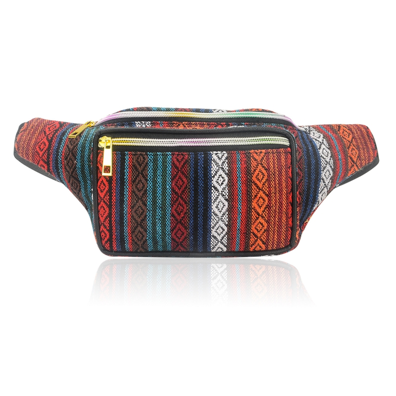JHD-Women Ethnic Fanny Pack Retro Vintage Bum Bags Travel Hiking Waist Belt Purse Fanny Pack For Women Waist Bag