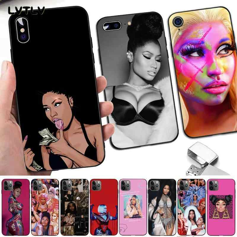 LVTLV Nicki Minaj DIY Painted Bling Phone Case for iPhone 8 7 6 6S Plus X 5 5S SE 2020 XR 11 pro XS MAX