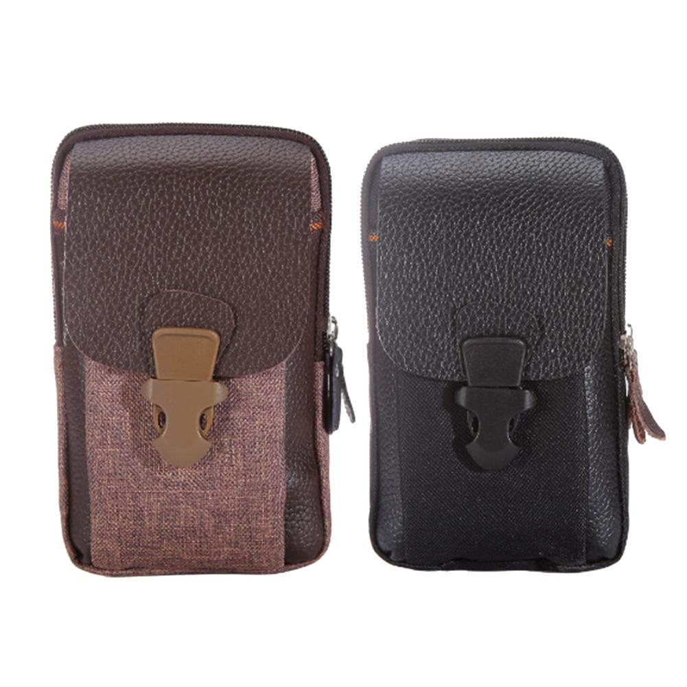 Hot Men Faux Leather Insert Buckle Zipper Waist Bag Fanny Pack Phone Pocket Cash Money Pouch Waist Bag Sports Packs Gift Men Bag