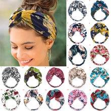 Diademas bohemias para niña y mujer, bandanas con estampado vintage, turbante cruzado, cintas para el pelo, accesorios para el cabello