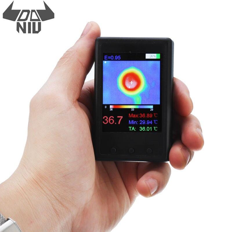 DANIU Protable HY-18 MLX90640 Handheld Termografia Câmera Infravermelha Termovisor de Infravermelho Sensor de Temperatura Digital