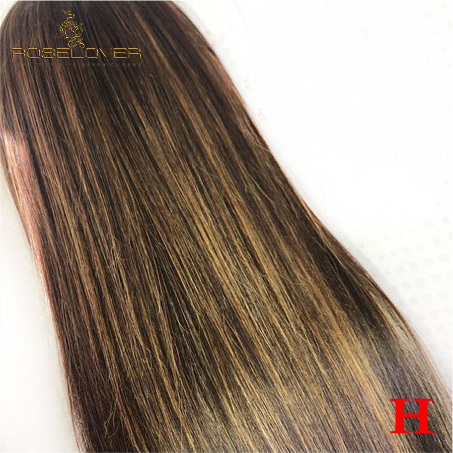 1b/4/27 Highlight Colored Human Hair Wigs 13*6 Lace Front Human Hair Wigs Deep Part Pre Plucked With Baby Hair Brazilian Remy