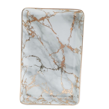 Creative Nordic Marble Stripe Refreshment Tray Jewelry Storage Tray Pizza Tray Cookware Porcelain Sushi Tableware