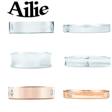 Ailey original high quality 925 sterling silver classic couple ring autumn new simple fashion ladie jewelry valentines day gift