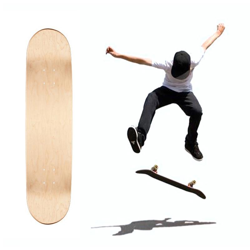 4 шт 8 дюймов 8-Слои клен одноцветная с двойным портом «мама» скейтборды натуральный скейт доски палубы