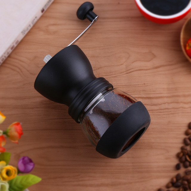 Manual Ceramic Burr Coffee Bean Grinder with Fortified Glass Storage Jar Durable Cafe Bean Mill Coffee Maker Kitchen Tools SP521 3