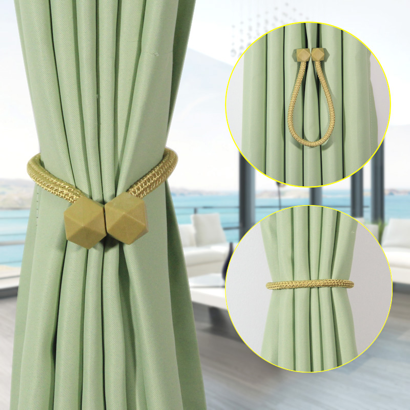 1pc Curtain Tieback Multifaceted Ball Magnetic Curtains Buckle Tie Back Holder