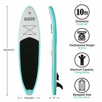 305*76*15 CM Inflatable Surfboard Stand Up Surfing Surf Paddle Water Sport Tavola Sup Board With Paddle Pump Foot Safety Rope