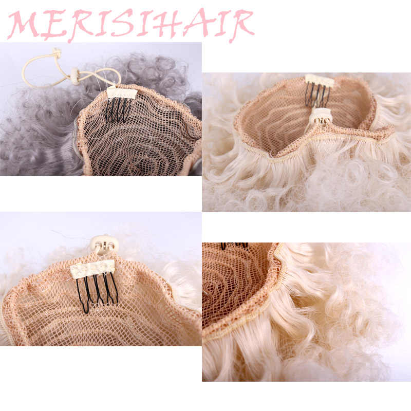 High Puff Afro Curly Wig Ponytail Drawstring Short Afro Kinky Pony Tail Clip in on Synthetic Curly Hair Bun Made of Kanekalon