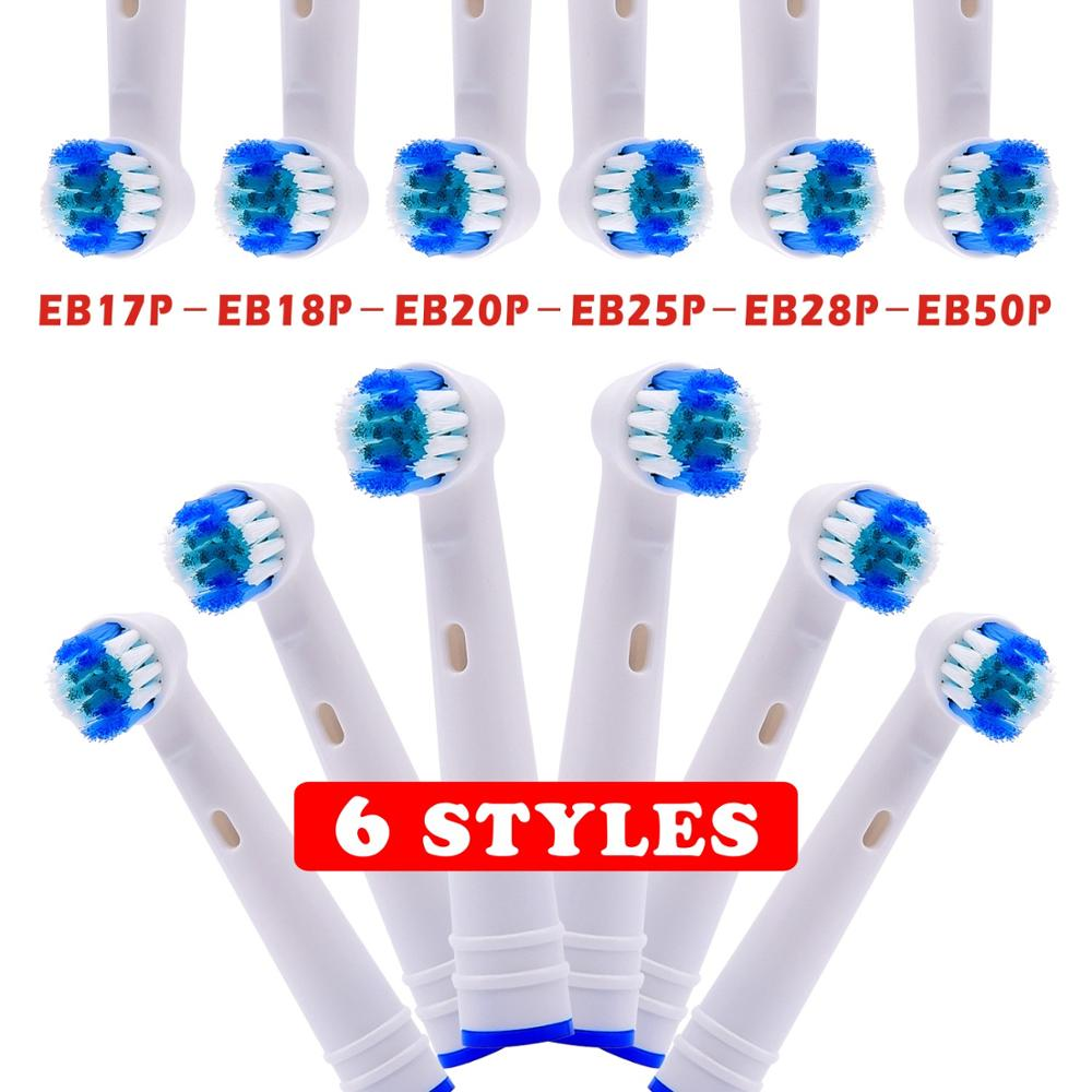 12pcs Replacement Toothbrush Heads 6 Styles For Oral B Electric Advance Power/Pro Health/3D Excel/Vitality Precision Clean image
