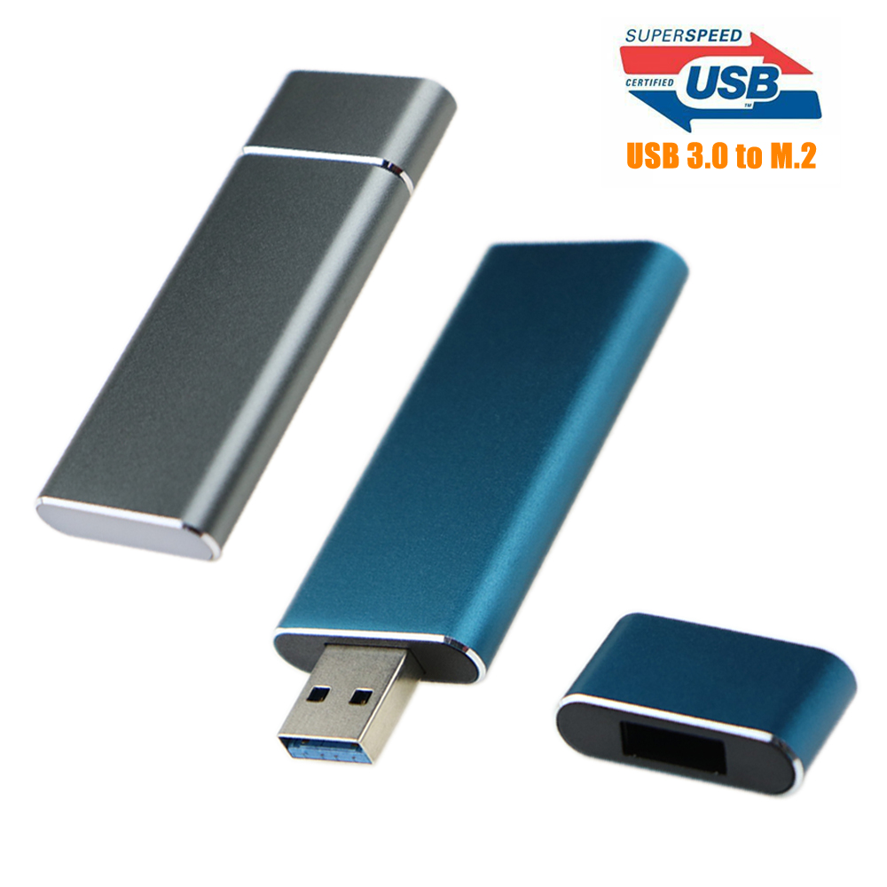 Super Speed 5Gbps USB 3.0 To M.2 2230 2242 SSD Enclosure NGFF SATA-bus B KEY External SSD Adapter Case Support UASP