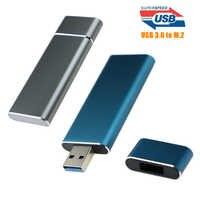 Super vitesse 5Gbps USB 3.0 à M.2 2230 2242 boîtier SSD NGFF SATA-bus B clé externe adaptateur SSD Support UASP