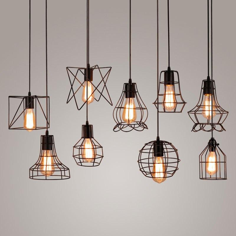 Living Room Decoration Lamp Bar Pendant Lightsceiling LightE27 110V 220V LED Black Chandelier Kitchen Livingroom Bedroomcorridor