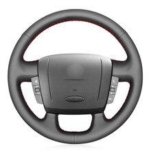 Черный из искусственной кожи чехол рулевого колеса автомобиля для Fiat Ducato 2006-2019 Ram ProMaster (грузовой) (шасси кабины) (окно) 2017-2020