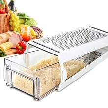 Vegetable Cheese Chopper Garlic Crusher Shredding Multi Food Masher with Containers Grater Kitchen Accessories for Garlic Cutter