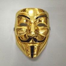 Masques de fête pour adultes V pour Vendetta, masques de carnaval, Fawkes, accessoire de fête, Cosplay, 1 pièce