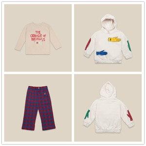 Предпродажа, осенне-зимний детский костюм из трех предметов Bobo/хлопковая Футболка для мальчиков и девочек свитер с капюшоном и свитер с кап...