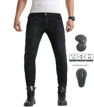 2019 New Men Women Motorcycle Riding Jeans Motocross Racing Slim Stretch Pants Motorbike Trousers With 4 X Armor Knee Hip Pads four seasons riding tribe motorcycle pants with knee hip pad moto motocross trousers body armor m l xl 2xl 3xl 4xl