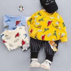 2021 для маленьких девочек одежда для малышей Комплект детской одежды для мальчиков, для новорожденных девочек, рубашка с длинными рукавами + ...